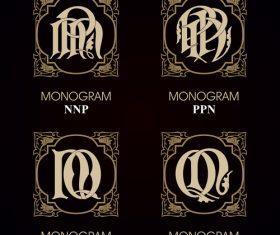 PPN monograms in vector