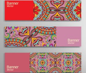 Painted banner vector