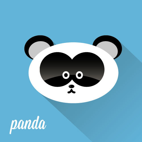 Panda head icon vector