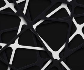 Papercut stripes vector background