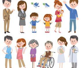 Parents and children vector