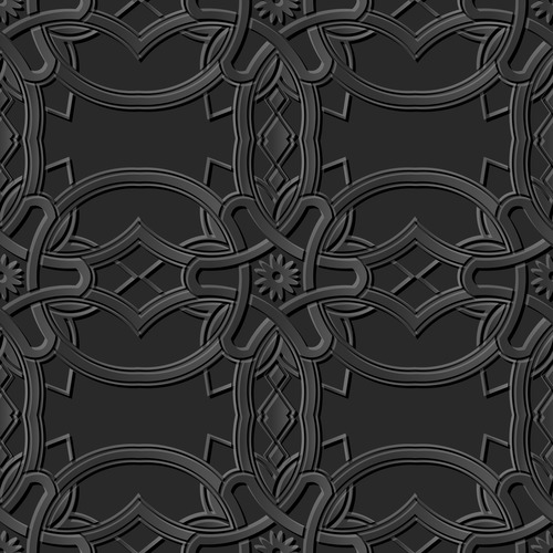 Partial 3d modern decorative patterns in vector
