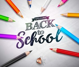 Pencil background back to school