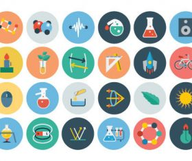 Physical science icons vector