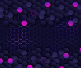 Pink and dark grid background vector