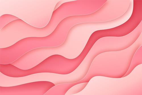 Pink wave background vector