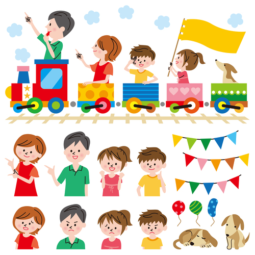Play with children vector
