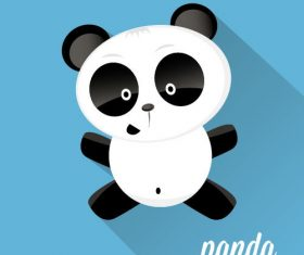 Playful panda icon vector