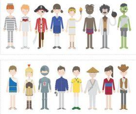 Premade characters cartoon characters vector