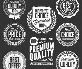 Premium product label vector