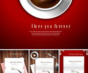 Presentforyou romantic and love theme vector