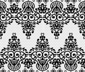 Pretty knitted flower decorative pattern vector