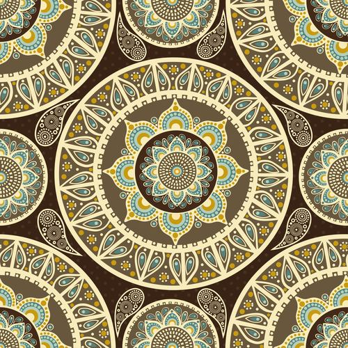 Pretty seamless circle pattern background vector