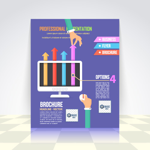 Professional business infographic vector