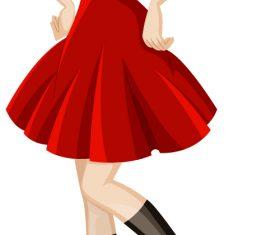 Proud girl model cartoon vector