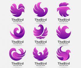 Purple bird logo vector