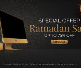Ramadan sale proud editable text style effect vector