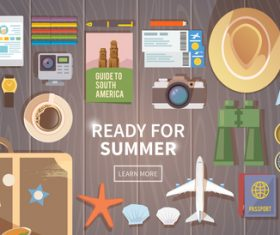 Ready for summer vector