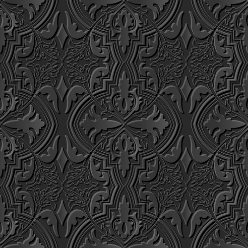 Realistic decoration 3d patterns in vector