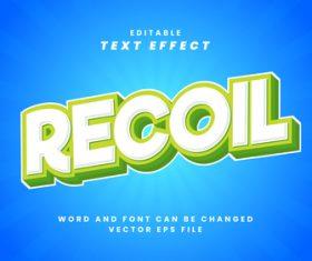 Recoil vector editable text effect