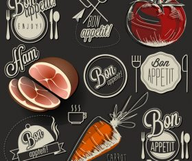 Restaurant menu food in vector
