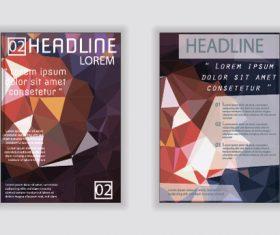 Rhombus geometric pattern A4 size brochure cover vector