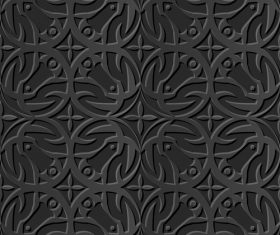 Ring carved decoration 3d patterns in vector