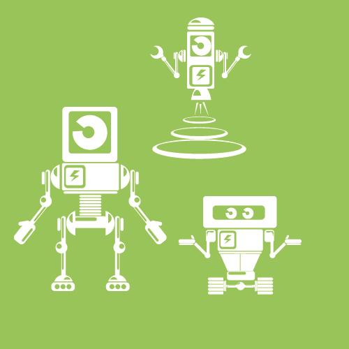 Robot icon collection vector
