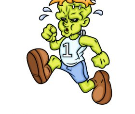 Running cartoon character icon vector