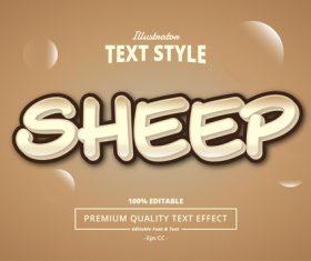 SHEEP text effect vector