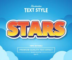 STARS text effect vector