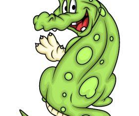 Say hello crocodile cartoon vector