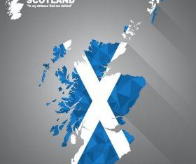 Scotland map flag vector