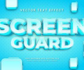 Screen guard vector text effect