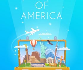 Search of america vector