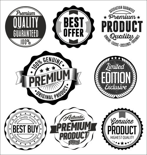 Set of Vintage badges vector