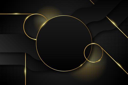 Shiny golden ring vector background