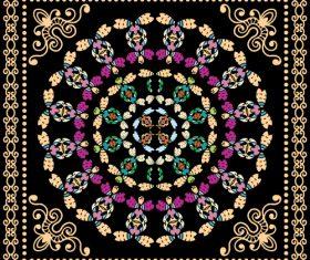 Silk scarf printing design style vector
