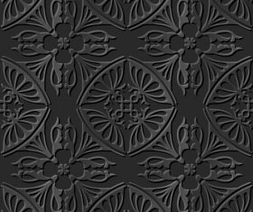 Simple 3d decorative patterns in vector