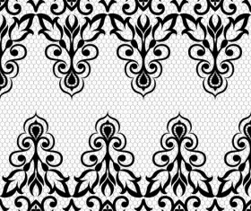 Simple flower knitting pattern vector