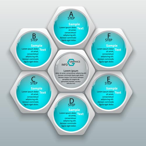 Sky blue graphics info vector