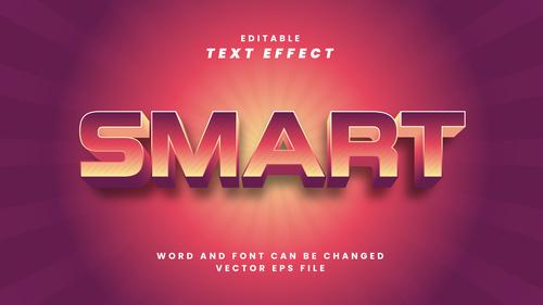 Smart vector editable text effect