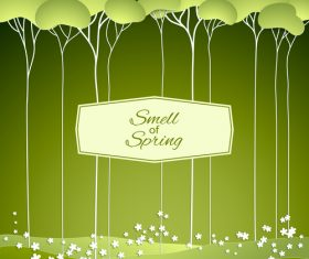 Smell of spring vector background