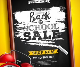 Special sale student supplies vector