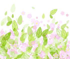 Spring flower vector background
