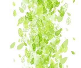 Spring green leaves vector background