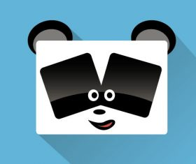 Square animal icon vector