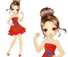 Stunning girl vector