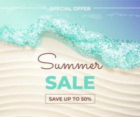 Summer promotion card vector