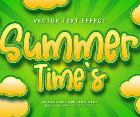 Summer time vector text effect